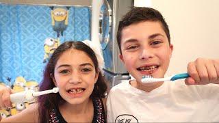 Heidi e Zidane aprendem a escovar os dentes