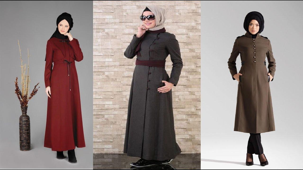 7895d8a260bbc ملابس محجبات جلبابات تركي موضة الوان و ازياء شتاء 2018. 2018 Clothes hijab  style fashion