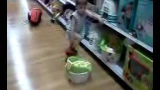 Brayden in Toys R Us