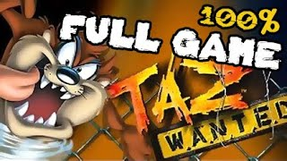 Taz Wanted Walkthrough 100% FULL GAME Longplay (PC, PS2, Gamecube, XBOX)