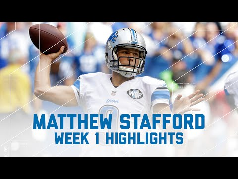 Matthew Stafford Highlights | Lions vs. Colts | NFL Week 1 Player Highlights