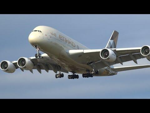 WOW! London Heathrow +60 HEAVY Arrivals Incl. 9 A380s!