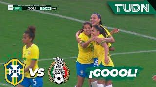 ¿Fuera de juego? Brasil sentencia | Brasil 6 - 0 México | Amistoso Femenil Internacional  | TUDN