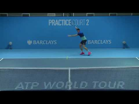 Milos Raonic Practice With Carlos Moya ATP World Tour Finals 2016
