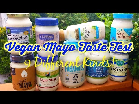 Vegan Mayo Taste Test & Review / 9 Kinds