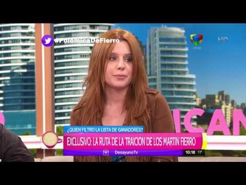 Agustina Kämpfer opinó sobre la decisión de Rial de publicar los ganadores del Martín Fierro