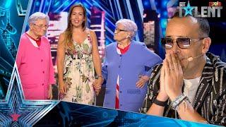 Paqui y Ana, las ABUELAS de TIK TOK, bailan con Edurne | Audiciones 3 | Got Talent España 2021