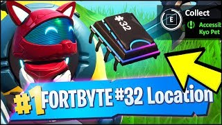 FORTBYTE #32 Location - ACCESSIBLE BY WEARING KYO PET BACK BLING, MOST NORTHERN POINT (Fortnite)