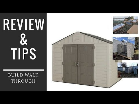 Home Depot 8x10 Shed Review And Build Tips Keter Vinyl Plastic Storage