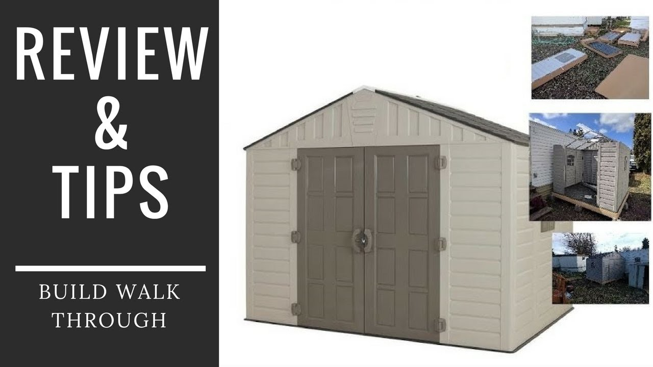 ?Home Depot 8x10 Shed Review and Build Tips Keter vinyl plastic Storage Video by WSM ? & ?Home Depot 8x10 Shed Review and Build Tips Keter vinyl plastic ...