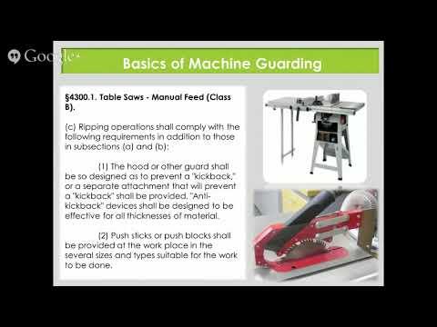 Machine Guarding For California Businesses