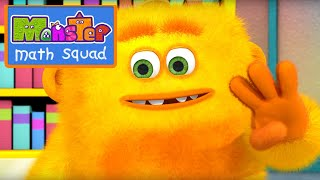 Monster Math Squad | 108 | Big Burp Monster at the Library | Learning Numbers Series