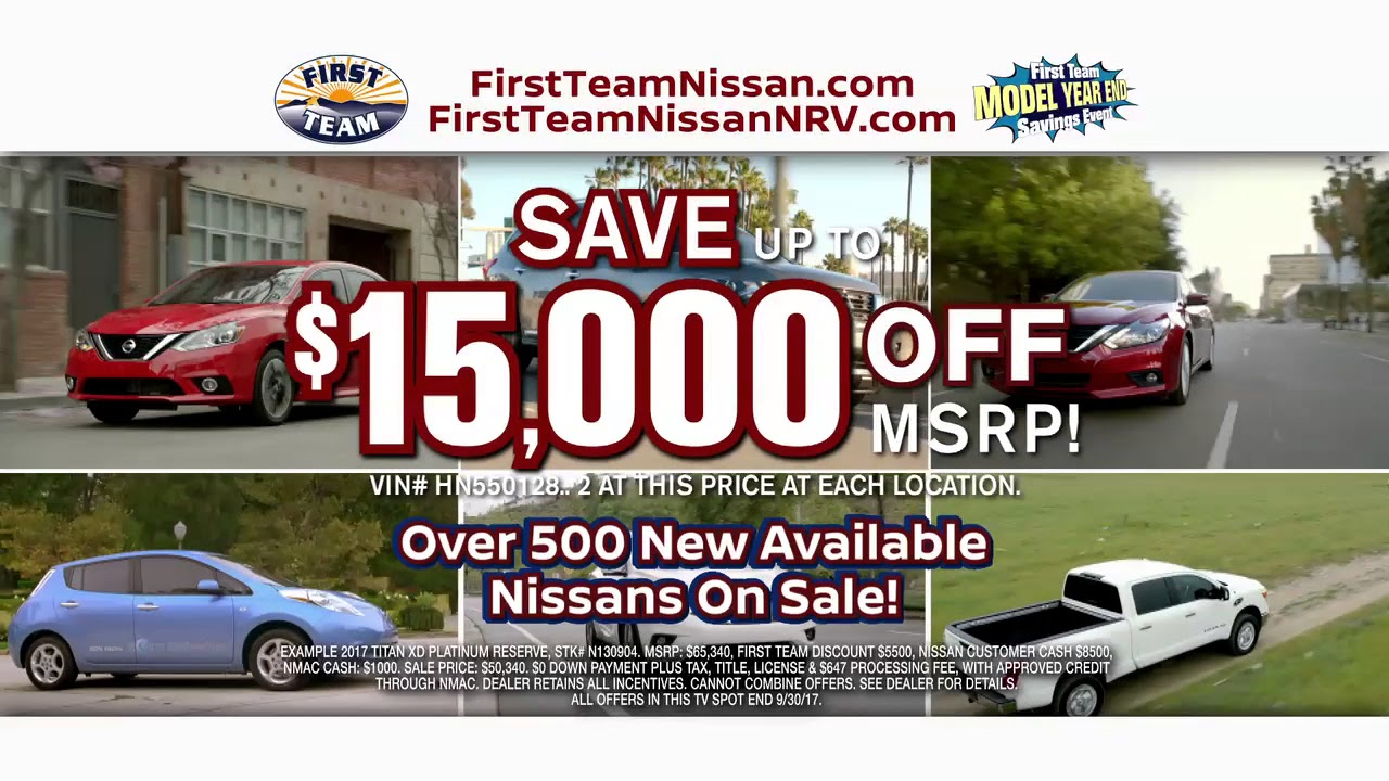 First Team Nissan >> First Team Nissan Model Year End Savings Event Youtube