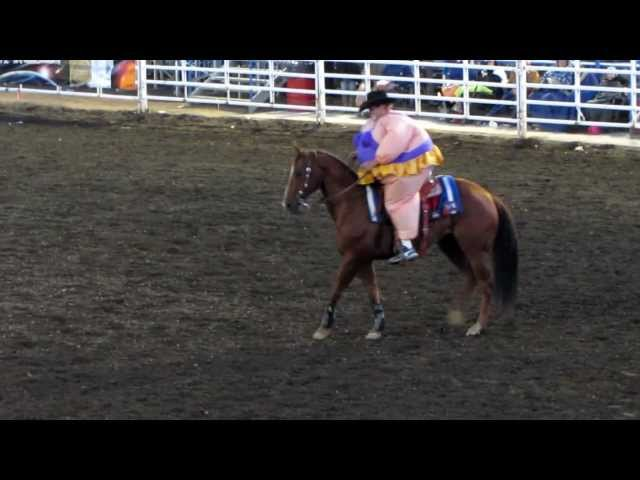 JJ Harris rides a Rodeo Queen's horse