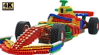 DIY - How To Make Amazing F1 Racing Car From Magnetic Balls ( Satisfying ) | Magnet World 4K