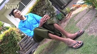 Myanmar's tallest man in Singapore
