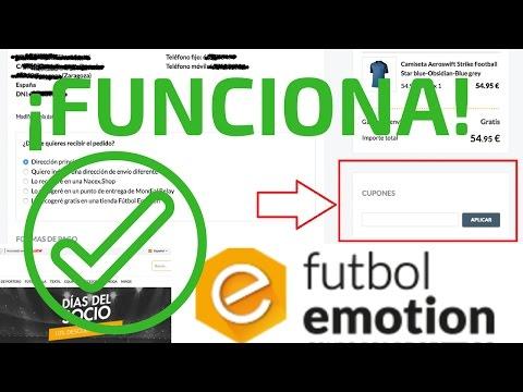 Cupones Descuento Futbolemotion.com ⭐ Comprar con DESCUENTO Tienda Futbol Emotion - Soloporteros ⚽