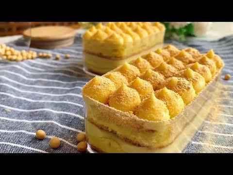 手把手教你做網紅豆乳盒子蛋糕,清甜不膩超低卡,減肥可以隨便吃【廚娘小寧】