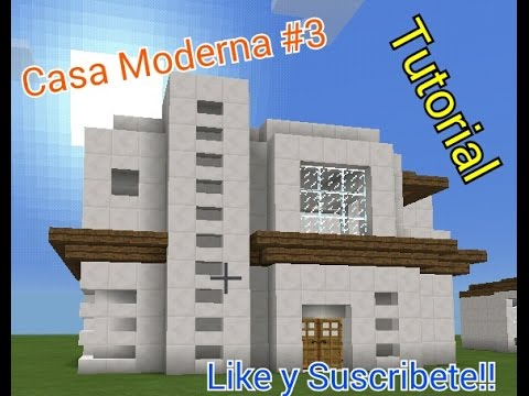 Minecraft como hacer una casa moderna 3 youtube for Casa moderna minecraft pe 0 10 5
