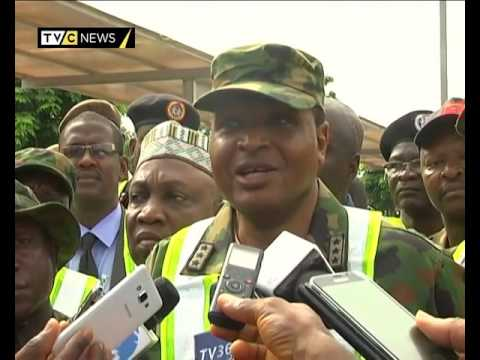 Nigerian Troops test defence systems at Nnamdi Azikwe Int'l Airport