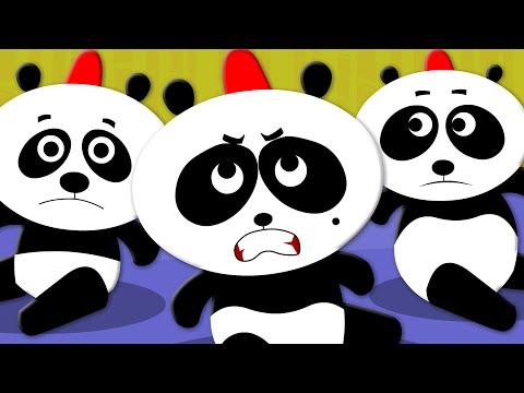 Five Little Pandas | Nursery Rhymes | Kids Songs | Baby Videos
