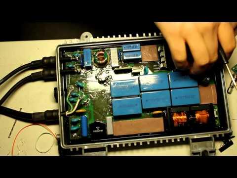 Failed Enecsys 360w solar microinverter teardown (018)