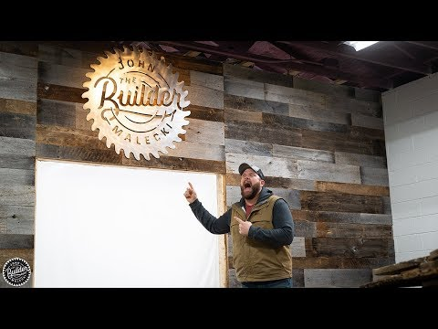 DIY Barn Wood Wall and Metal Sign | Vlog 005