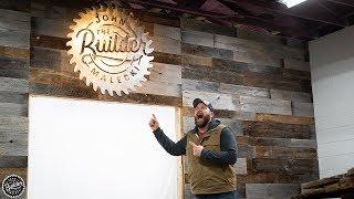 DIY Barn Wood Wall and Metal Sign | Vlog 005