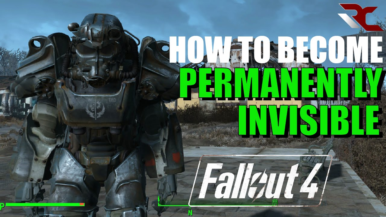 Fallout 4 | How to become Invisible Glitch/Exploit - Permanent Invisibility  in Fallout 4
