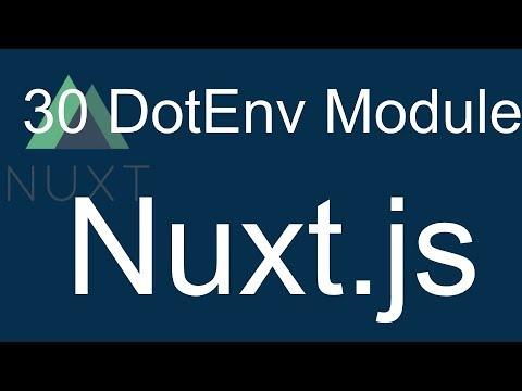 30 Nuxt JS Beginner Tutorial - Use Dotenv Module