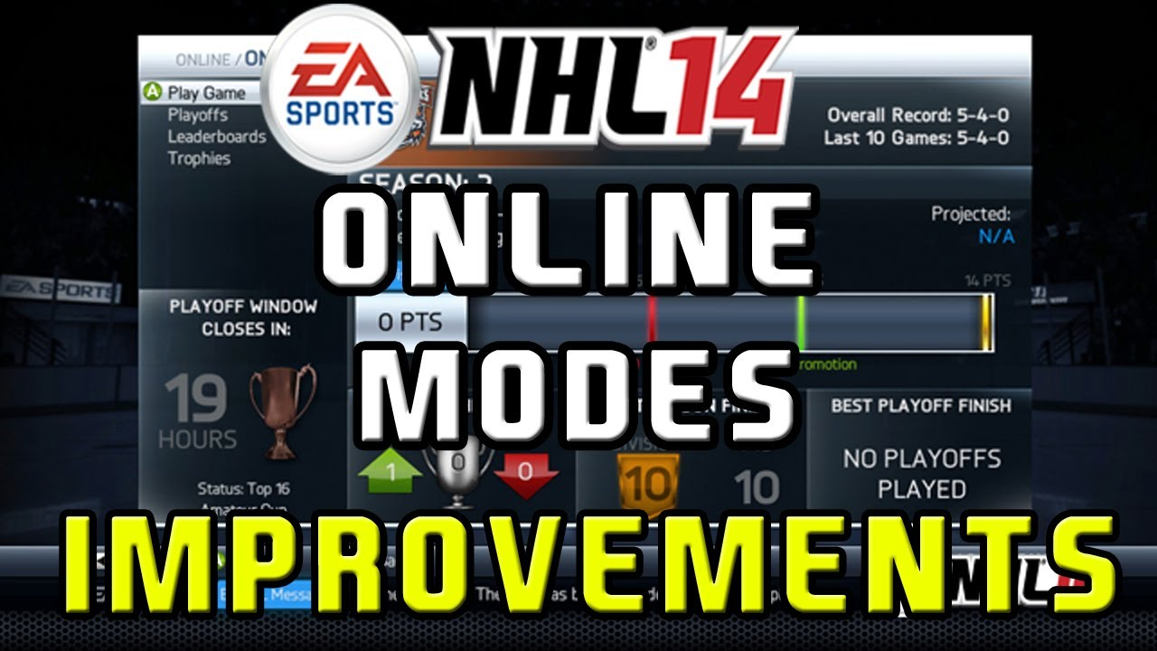 NHL 14: ''HUGE'' EASHL Improvements & NEW Ranking System (Fifa Ranking Syste