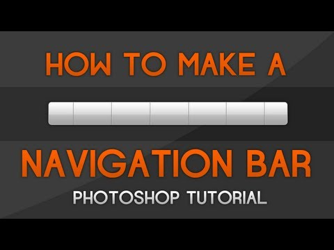 Photoshop Tutorial - How to make a Navigation Bar thumbnail
