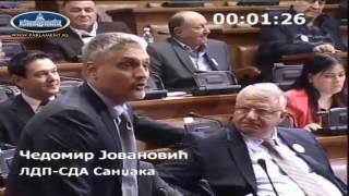 Vojislav Šešelj oterao Čedomira Jovanovića iz skupštinske sale!