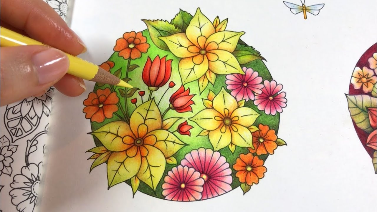 Basic Flowers Coloring Blossom 4 4 World Of Flowers By Johanna Basford