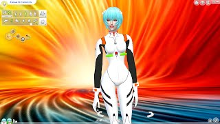 Ayanami Rei From Neon Genesis Evangelion in The Sims 4 Mods
