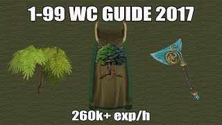 [Runescape 3] 1-99 Woodcutting Guide 2017 | Fast & AFK Methods