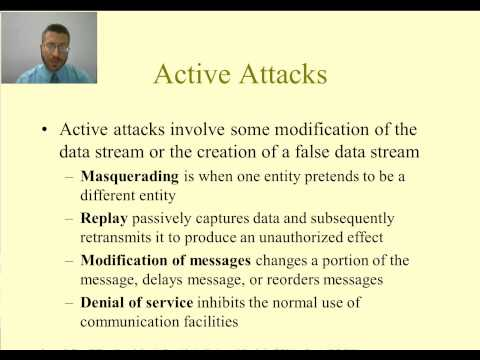 Computer and Network Security - Types of Security Attacks and Services