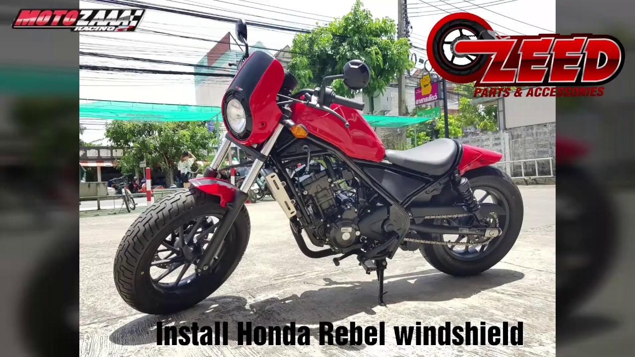 Install Honda Rebel CMX 300 - 500 Windshield Light Cover ...