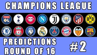 UEFA Champions League Predictions Round of 16 EP2 Marble Race in Algodoo / Marble Race King
