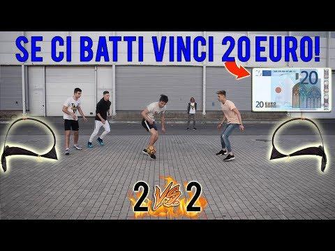 REGALIAMO 20 EURO a chi riesce a batterci a CALCIO a Roma - Sfide 2 VS 2