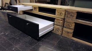 Lowboard  aus Paletten bauen