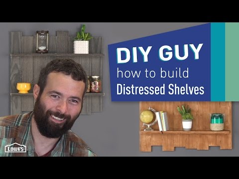 DIY Guy: How to Build Distressed Pallet-Look Shelves