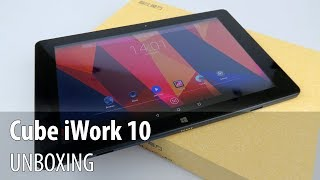 Cube iWork 10 Unboxing + Original Keyboard Unboxing (10 inch Dual OS Tablet)