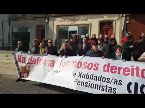 Movilización por unas pensiones dignas en A Estrada