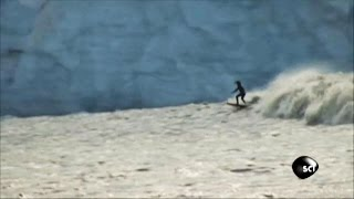 Surfing a Glacial Tidal Wave