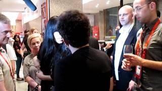 Izabo's Ran Shem Tov Greets Loreen at the Israeli Eurovision party 2012