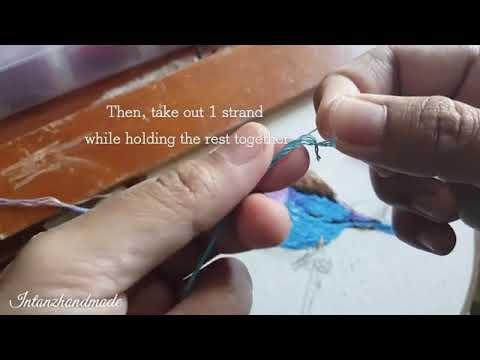How To Separate Embroidery Floss Without Tangles