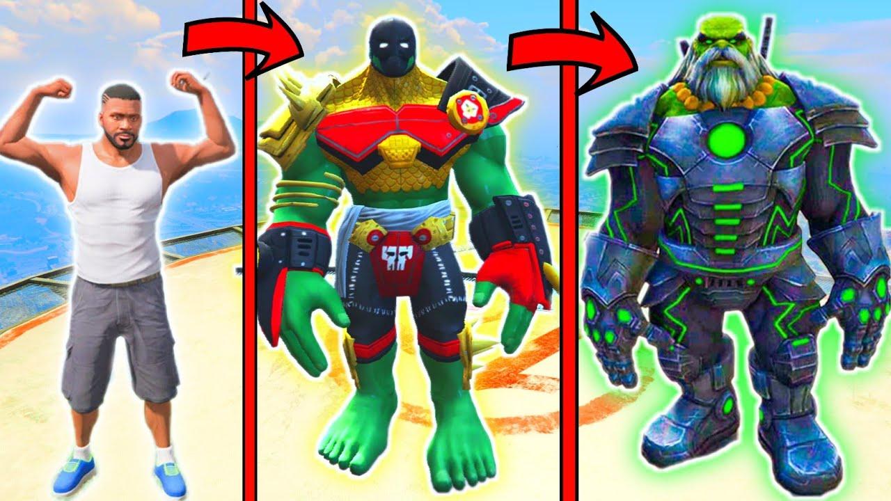 Franklin Upgraded God Hulk and Fight God Hulk Army in GTA 5 (Hindi)   GTA5 AVENGERS   A.K GAME WORLD