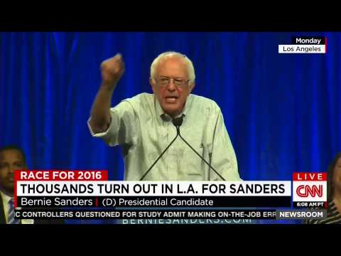 "CNN On The Size Of Bernie Sanders' Rallies: ""Are You Listening, Hillary Clinton?"""