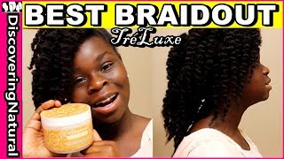 Braid Out Natural Hair | Holiday Hairstyle ft. TréLuxe